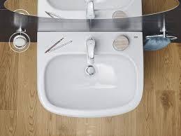 mit überlauf und hahnloch waschtisch weiß grohe keramik