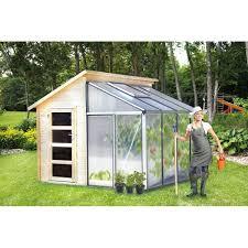 abri de jardin serre adossée polycarbonate combi green house 4