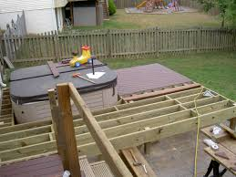 12x12 Floating Deck Plans by Build Deck For Tub Radnor Decoration