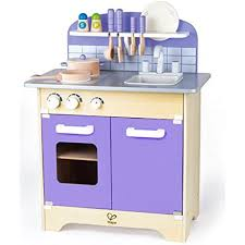 wooden kitchen playset with deluxe accessories kids pretend play