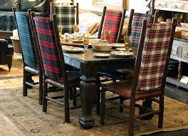 Plaid Dining Chairs Create A Very Rustic Feel To This Room Chair Cushions