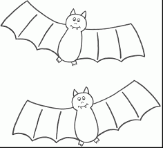 Fantastic Halloween Bat Coloring Pages With For Preschoolers And Pdf