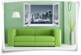 wandtattoo wandbild fenster new york skyline city big apple wohnzimmer deko