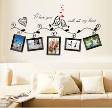 DIY Photo Frame Loving Bird Love You Heart Wall Stickers For Living Room Bedroom Vinyl Decoration