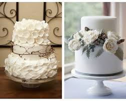 Nature Inspired Wedding Cake Winter Lace White Cookies