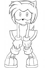 Cartoon Sonic Amy Rose Coloring Pages Online