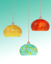 blown glass mini pendant light and lighting for kitchen island the