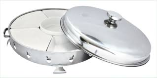 180 Stainless Steel Economy Dome Ceramic Bowl Chafing Dish 6pcs