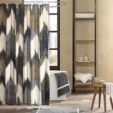 Chevron Print Curtains Walmart by Better Homes And Gardens Indigo Paisley Pieced Fabric Shower
