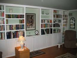 get built in bookcases inexpensively by using pre made parts