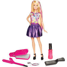 Amazoncom Barbie DIY Crimps Curls Doll Blonde Toys Games