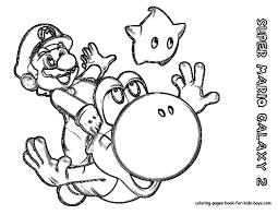 Coloring Page Mario Bros Video Games 23