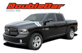 100 Ram Trucks 2013 RAM DOUBLE BAR 20092018 Dodge Hood Hash Marks Stripes Decals Vinyl Graphics Kit
