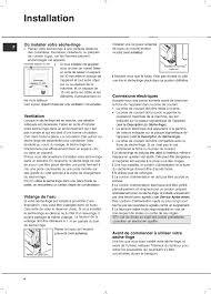 notice seche linge hotpoint ariston installation où installer votre sèche linge ventilation