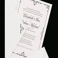 Black White Flourish Border Wedding Invitations