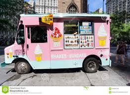 Pink Ice Cream Truck In New York City Editorial Stock Image - Image ...