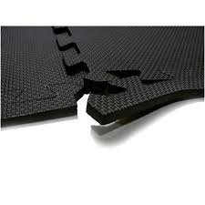 Exercise Floor by 60 X 60 Cm Black Interlocking Eva Soft Foam Exercise Floor Mats