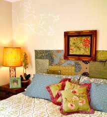 oversized king quilts Bedroom Eclectic with appliques bed bedside