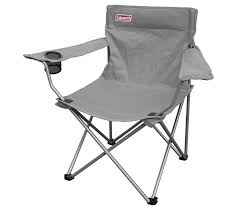 Coleman GO! Quad Arm Chair Foldable Portable Outdoor Lightweight Compact  Camping Chairs (Grey)