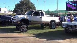 Chevy 1500 Squattin On 22x14s - Florida Whips - YouTube