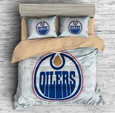 Chicago Bulls Bed Set by 3d Customize Edmonton Oilers Bedding Set Duvet Cover Set Bedroom