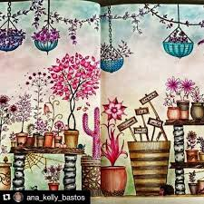 Repost Ana Kelly Bastos Jardimsecreto Livrosantiestresse Adult ColoringColoring BooksSecret GardensOceanLostJohanna