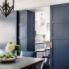 Blue Door With Brass Hardware Design Ideas