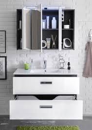 möbel beleuchtung hängeschrank badspiegel grau manhattan