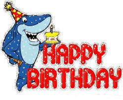 Birthday clipart shark 4