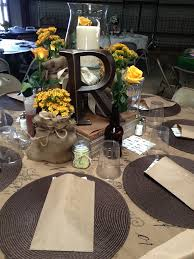 Rustic Table Decor Maybe For Bride And Groom Wedding Ideas