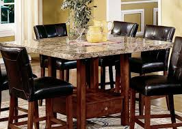 Dining Room Chairs Set Of 6 by Dining Room 21 Photos Gallery Of Best Bar Height Dining Table