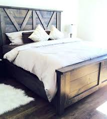Special Rustic Bed Frames Homemade Small Home Ideas