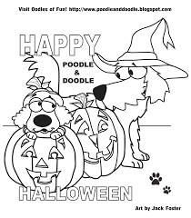 Poodle And Doodle Say Trick Or Treat