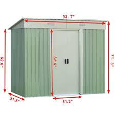 Metal Storage Sheds Amazon by Amazon Com Goplus Galvanized Steel Outdoor Garden Storage Shed 4