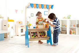 hape market checkout kid s wooden kitchen play food sets and