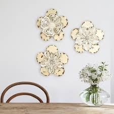 Stratton Home Decor 3 Piece Set Rustic Flowers Wall