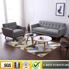u best nordic design 3 seater fabric sofa for living room