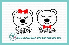 Mama Bear Svg Momma Papa Baby Brother Sister Family Bundle Iron On By KArtCreation