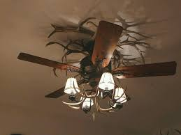 Rustic Ceiling Fans With Lights For Functionality And Style Your Home Unique Antler