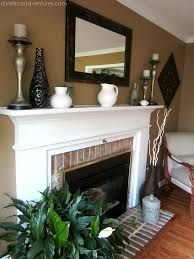 Paint Colors Living Room Red Brick Fireplace by Living Room Make Over Tan White Blue Mantle Living Rooms