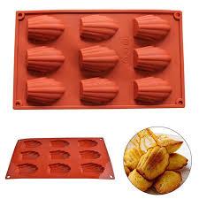 silikon mini kuchen form formen madeleine pan zinn tray