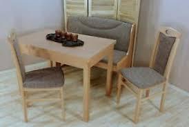 details zu essgruppe 4 tlg stühle stuhl bank esszimmer tisch esstisch truhe sitzgruppe