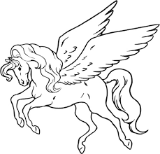 Unicorn Coloring Pages Kids Pegasus