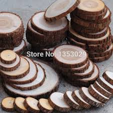 20pcs Lot DIY Handcraft Wood Material Crafts Log Sheet Vintage Wedding Decorations