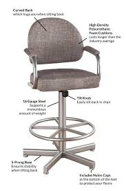 Chromcraft Chair Cushion Replacements by Callee Daytona Rocking Tilt Swivel Barstool Free Shipping