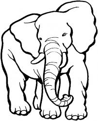 Elephant Head Printable Coloring In Pages For Kids