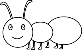 Cute Ant Coloring Page