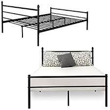 Bamboo Headboard And Footboard by Amazon Com Bed Frame Queen Size Vecelo Metal Platform Mattress