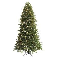 GE 75 Ft Pre Lit LED Indoor Just Cut Deluxe Aspen Fir Artificial Christmas Tree With Color Choice Lights And 1 Plug 01590HD