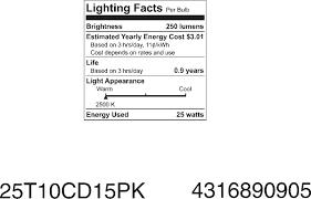 Tubular Light Bulb For Ceramic Christmas Tree by Amazon Com Ge 45144 5 25 Watt Crystal Clear Tubular T10 Light